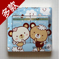 Cartoon switch stickers switch stickers switch wall stickers multicolour switch stickers