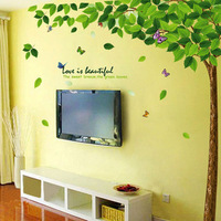 Green living room tv wall sofa background wall sticker decoration wall stickers