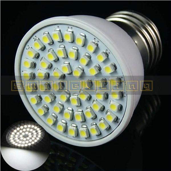 5 pcs E26 E27 48 SMD 5050 LED bulbs lamps lights White/ Warm White Spot light 3W 280-LM Plastic AC 85-265V Wide Voltage(China (Mainland))