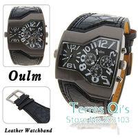 Oulm Fashion Watches Army Mens Quartz Wristwatch Free Ship