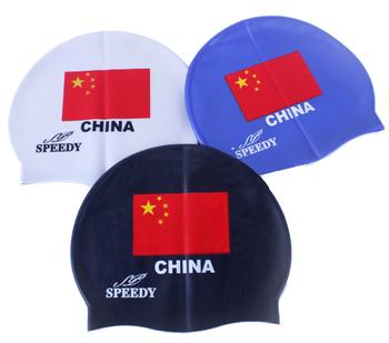 Swimming cap national flag pattern swimming cap rubber swimming cap prevent water inlet