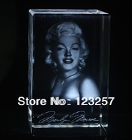 New! freeshipping! Wholesale 5*5*8cm 3D laser engraved Crystal image Celebrity series souvenir gift home decoration