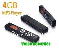 2013 New! 4GB Multi-functional MINI DVR Sound Recording Digital Audio Voice Recorder Dictaphone +MP3 Player Big discount