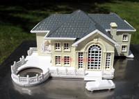 3D Plastic House Construction Kit European Villa model