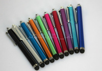 capacitive pen stylus touch pen for Mini ipad Iphone 5 Galaxy I9500 colorful free shipping