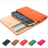 For SAMSUNG s5380d i509 s7250d i8150 i8160 i9100 i9103 Senior PU Leather Wallet Case, 2 Card Holders,Multi-color,Free Shipping