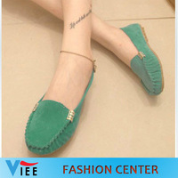 2014 round toe women loafers gommini soft outsole flat casual single shoes female driving shoes Ballet Flats loafers women H0064