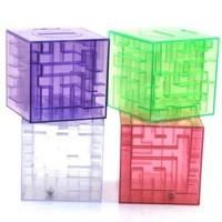 3D Crystal Puzzel Maze Piggy Bank Educational Coin Box Kids Adult Novelty Toy Money Box, 50pcs per lot