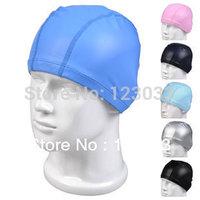 Authentic PU swim caps hats don't waterproof, elastic earmuffs great hair for men and women