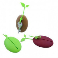 20pcs/lot Coffee Bean Key Bag Holder Keychain Bud Key Bag ( Blister Card Packaging) Free Shipping
