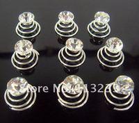 Free shipping,  20PCS  fashion crystal screw clamp the bride wedding crystal tiara