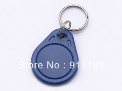 100pcs/bag RFID key fobs 13.56MHz ABS ic card nfc mifare tags access controller china Fudan S50 1K chip compatible with NXP(China (Mainland))