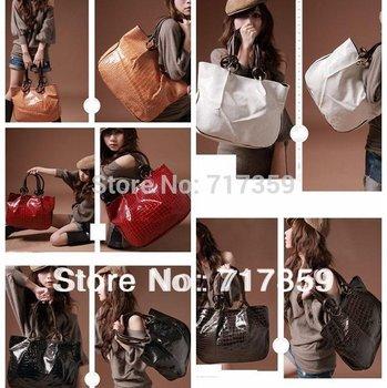 2013 New 1pc/lot Fashion Big Capacity Shining Stone Pattern Bag Hobo PU Shoulder Handbag Free Shipping  640193