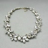 Vintage Jewelry Rhinestone Wreath Necklace Free Shipping 10 Pcs/lot