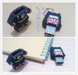Free EMS/DHL New Ninja USB Flash Drives Cartoon black USB Pen Drives Free Packing(China (Mainland))