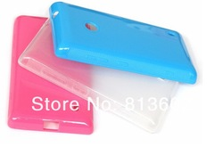 Colorful Transparent Soft Rubber TPU Clear Case Cover For Nokia Lumia 520,Lumia 520 Supplier TPu case By Free Ship(China (Mainland))