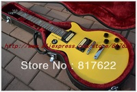 2013 New HOT SALE wholesale yellow color small wasp electric guitar free shipping with hardcase