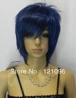 #1497   charming short lapis lazuli women's hair wig +gift