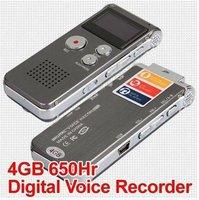 wholesale 2pcs/lot 4GB Digital Voice Audio Telephone Recorder MP3 Player