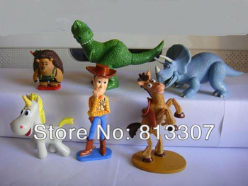 5 SET Big Size  6PCS /set   TOY STORY 3 BUZZ LIGHTYEAR WOODY Figures toy story figures