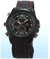 Free shipping 8GB hidden camera watch camera DVR wrist watch Waterproof mini camera