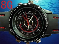 Built-in 8GB Waterproof Watch Digital Video Camera 720x480 AVI Mini Camcorder DVR without retail box
