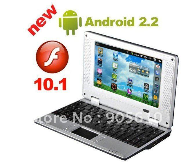 CHEAPEST NETBOOK ! LATEST 7&quot; Mini 8650 Netbook Laptop Notebook WIFI android 2.2 OS 256MB RAM 4GB HD free shipping(China (Mainland))
