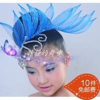Dance hair accessory national dance hair accessory costume hair accessory hard yarn diamond chain paillette 10pcs/lot