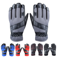 free shipping Luwint male winter motorcycle set double layer thermal slip-resistant cold-proof leather gloves