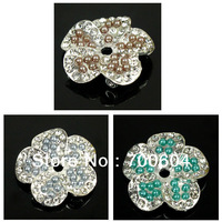 2013 Newest Fashion Style Flower Shank Rhinestone Metal Alloy Wedding Garment Craft Jewelry Buttons, Factory Supply