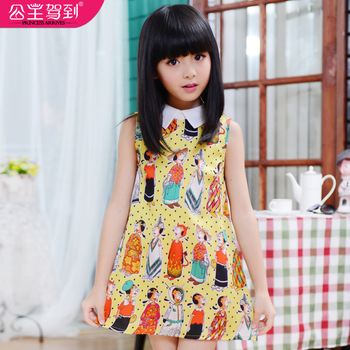Princess children's clothing 2013 summer female child one-piece dress princess dress child