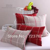 Hot selling!! polycotton England check desgin Classic cushion cover pillowcase car cushion