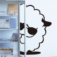 Free shipping Little sheep diy wall stickers glass stickers decoration stickers