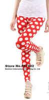 Free Shipping womens clothing 2013 women&#39;s pants for women warm dot Candy black white red dress skeleton black gray leggings