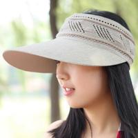 Hat summer women's empty top sunbonnet outdoor sun hat uv Women sun hat