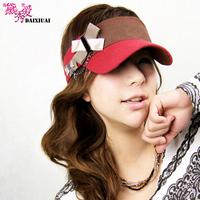 Hat female sports baseball cap sunscreen visor crownless outdoor casual cap sunbonnet