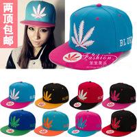 Bboy color block decoration embroidered flat hat hip-hop cap hiphop cap lovers hat flat cap
