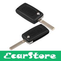 3 Button Folding Remote Key Shell Case for Peugeot 406 408 307 CITROEN C4 C5 C6 C Quatre C8