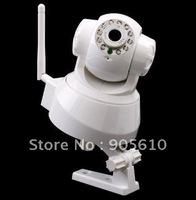 2013 NEW 2-Audio Nightvision IR Webcam Web CCTV Camera WIFI Wireless IP Camera black or white in retail box. white/ black color