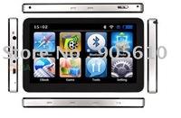 "free shipping 2011 newest version 7"" HD CAR GPS Navigation AV-IN BLUETOOTH FM transmitter window ce 4GB card map in box"