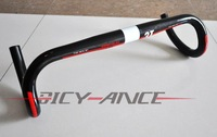 High Recommanded 3T Ergosum LTD Full carbon Road integrated handlebar road bike 3T handlebar Black with Red