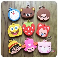 Free Shipping 5pcs Cartoon key caps/holders/covers/accessory Lovely Keychain Household items
