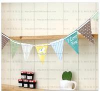 Children's birthday pennant triangular brace baby birthday supplies
