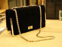 Free Shipping NEW woman's bag Fashion shoulder Aslant Bag diamond lattice chain handbag