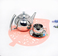 Stainless steel teapot stainless steel coffee pot tea pot electromagnetic furnace 1L