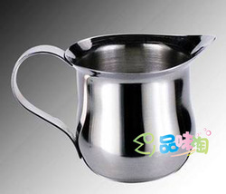 Stainless steel milk cup milk pot coffee cup glass 7 oz(China (Mainland))