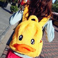 2012 autumn cartoon duckbill backpack women's handbag casual handbag solid color student bag  Free shipping