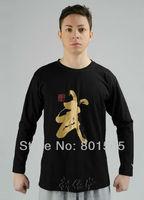 WuShu Kung Fu Classic Long-Sleeved T-shirt Tracksuits Martial Arts 100% Cotton Tee Shirt