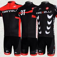 Cycling cloth 2013 Hot Sale!Team Castelli Tour de France Men's BIB Short Sleeve Cycling Jersey/ Bike Clothing/Bicycle Wear 3NH17