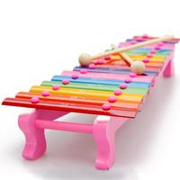 Wood hand knocking piano aluminum sheet xylophone child knock the violin